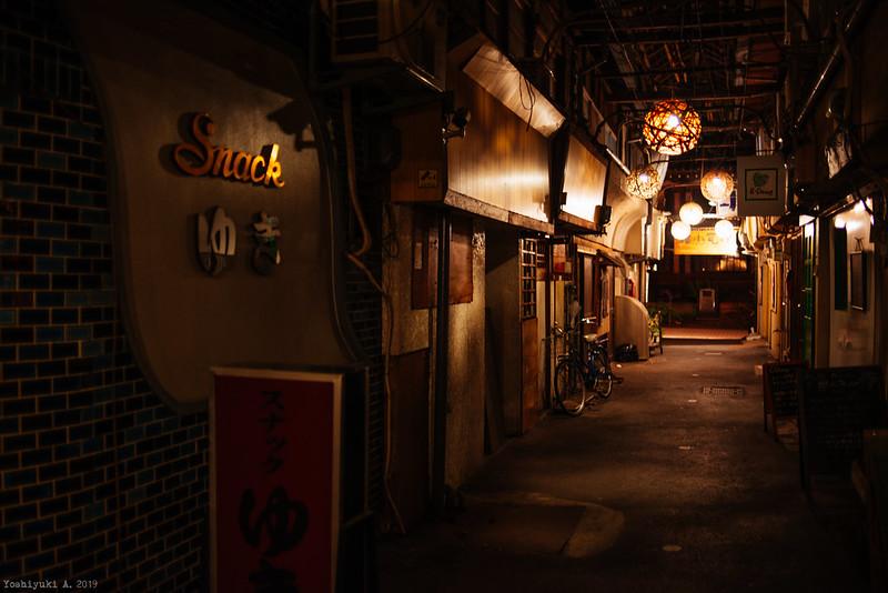 夜の竹瓦温泉
